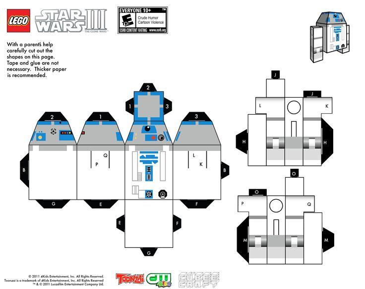 SF Douglas' Origami R2D2! | OrigamiYoda | 582x736