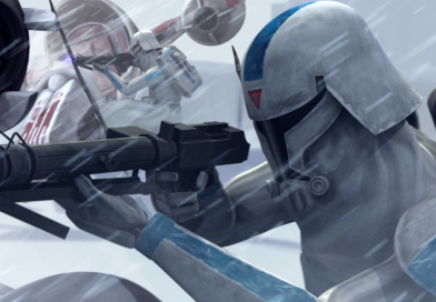 Шлем снежного клона (Star Wars The Clone Wars) / Snow clonetrooper helmet